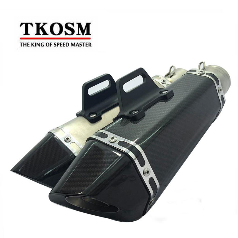 TKOSM Motorcycle Scooter Exhaust Modified Muffler Pipe For Yamaha For Kawasaki KTM 2006-2010 Suzuki GSXR GSX-R 600 750 K6 K7 K8 black rear pillion seat cowl cover for 2006 2007 suzuki gsxr gsx r 600 750 k6