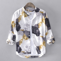 Linen Men Shirt Long Sleeve Summer Style Shirts Sexy Slim Fit Men Clothes New Arrival