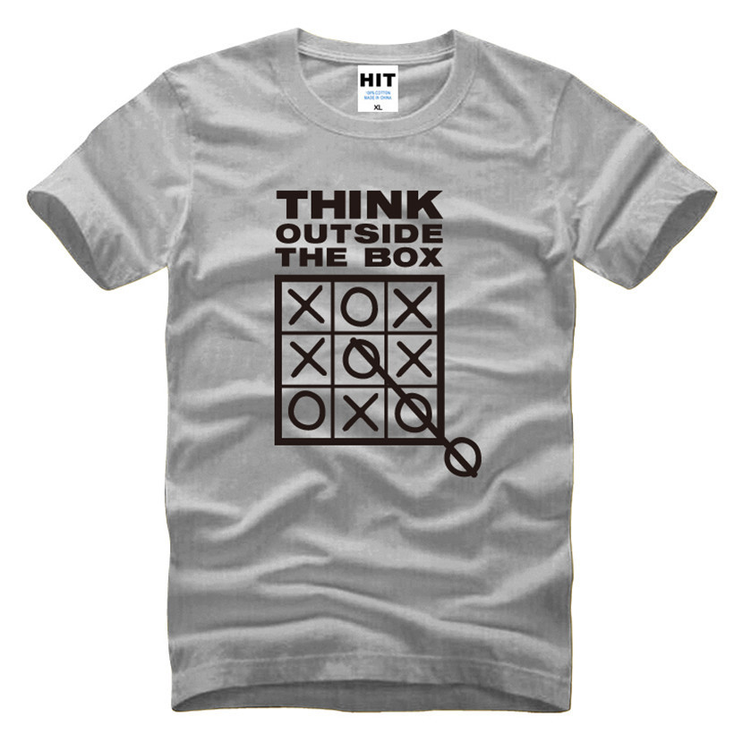 Think Outside The Box Grappige Coole Creatieve Heren Heren T-shirt - Herenkleding - Foto 5