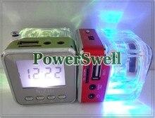 FM Radio Mini Speaker Portable Micro SD / TF Music TT028 MP3 Player Sound Box LCD Screen