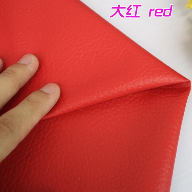 """Doelbewust Rode Grote Lychee Patroon Pu Synthetisch Leer Kunstleer Stof Bekleding Auto-interieur Sofa Cover 54 """"breed Per Yard Mild En Mellow"""
