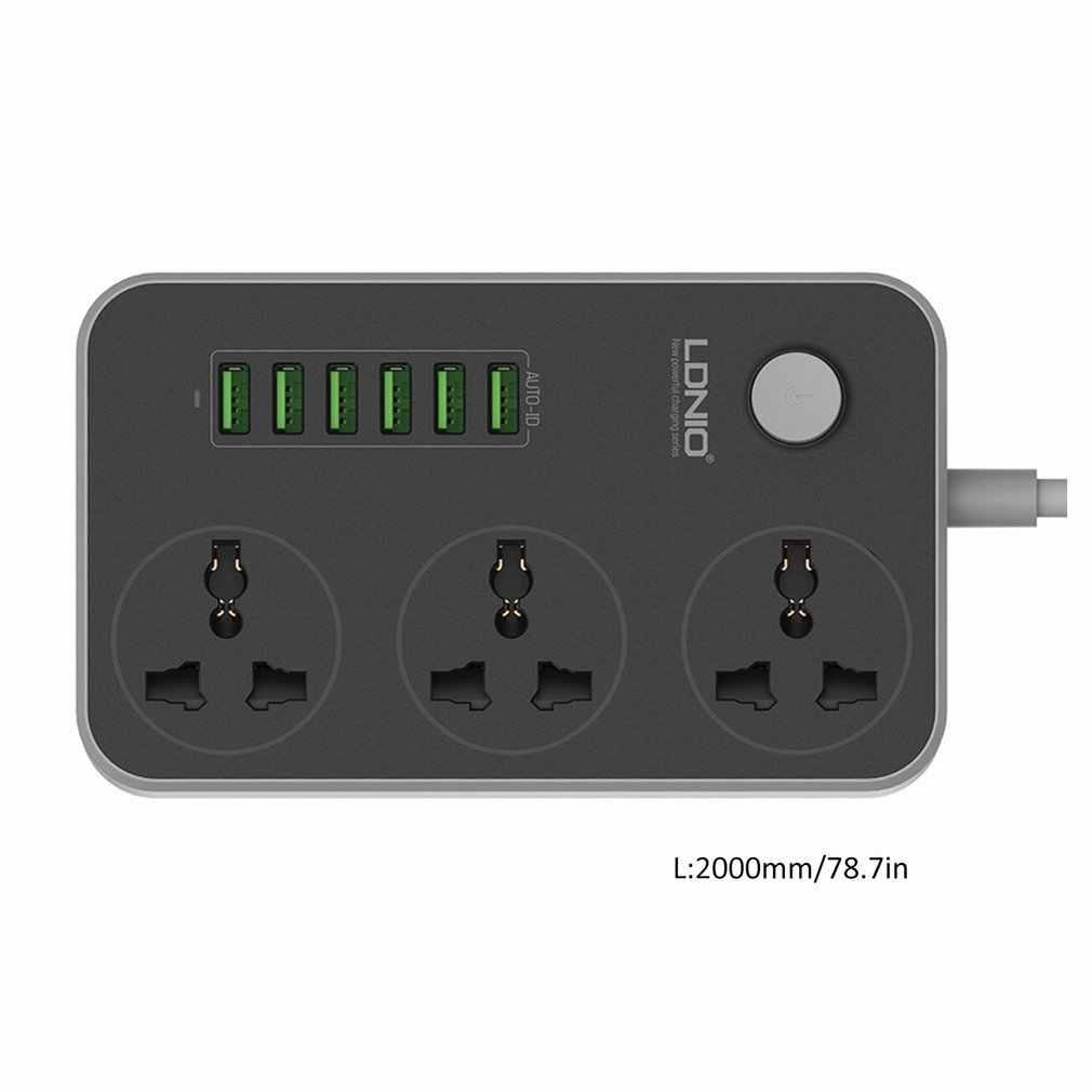 3 gniazdo + 6 porty USB listwa zasilająca z USB inteligentnego domu gniazdo zabezpieczenie przeciwprzepięciowe szybkie ładowanie domu rozszerzenia łatka pokładzie ue /US/UK