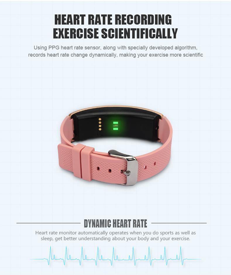 Smartch I8 Smart Bracelet Talk Band Heart Rate Blood Pressure Oxygen Pedometer Bluetooth smartband watch Than Huawei B3 6