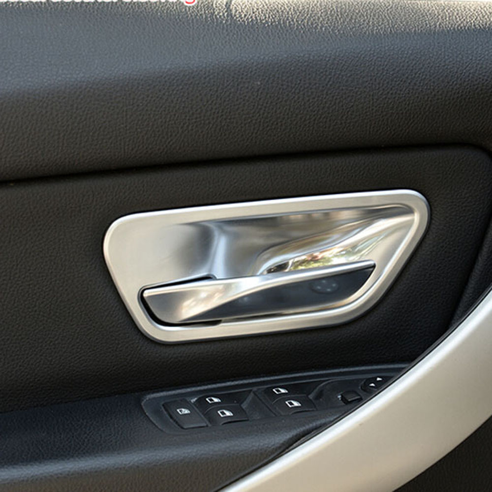 Inside door handle knob cup wrist bowl cover trim sticker for bmw 3series f30 316i 320