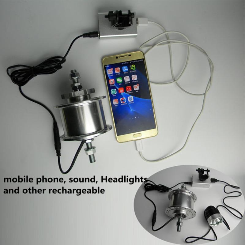 36 trous 6 V 3 w roulement de puissance vélo générateur d'électricité moyeux de vélo vtt VTT Dynamo Hub tension éclairage Rechargeable - 5