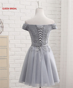 Image 5 - Hot Sale Many Colors A line Cap Sleeve Tulle Lace Short Evening Dresses 2020 New Elegant Party Dress Prom Gown EN04K