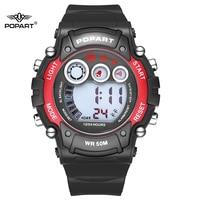 1ffe9a9857c1 POPART niños Relojes LED Digital cronógrafo alarma niño impermeable reloj  niños relojes para niños niñas nuevo