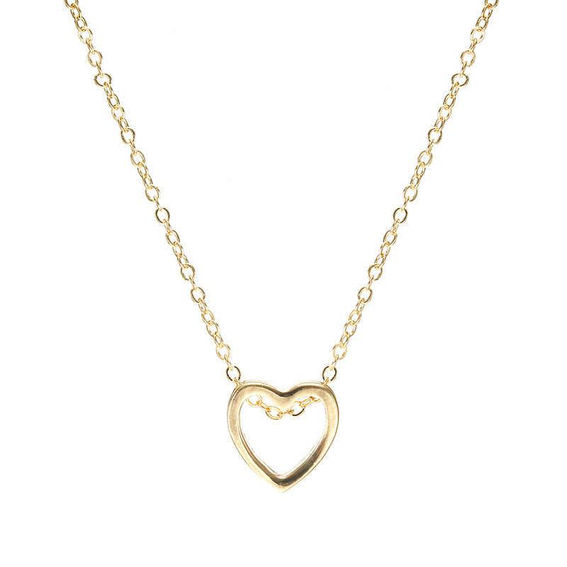 2019 ใหม่สร้อยคอหัวใจจี้สำหรับสตรีเครื่องประดับเพื่อนเจ้าสาวของขวัญสแตนเลสสตีล Bijoux Femme Collier Chok
