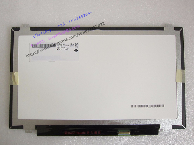 New Laptop LCD Screen  Optronics B140HAN01.1 B140HAN01 B140HAN01.2 B140HAN01.3 Full-HD LCD Screen IPS FHD 1920*1080 eDP 30pin