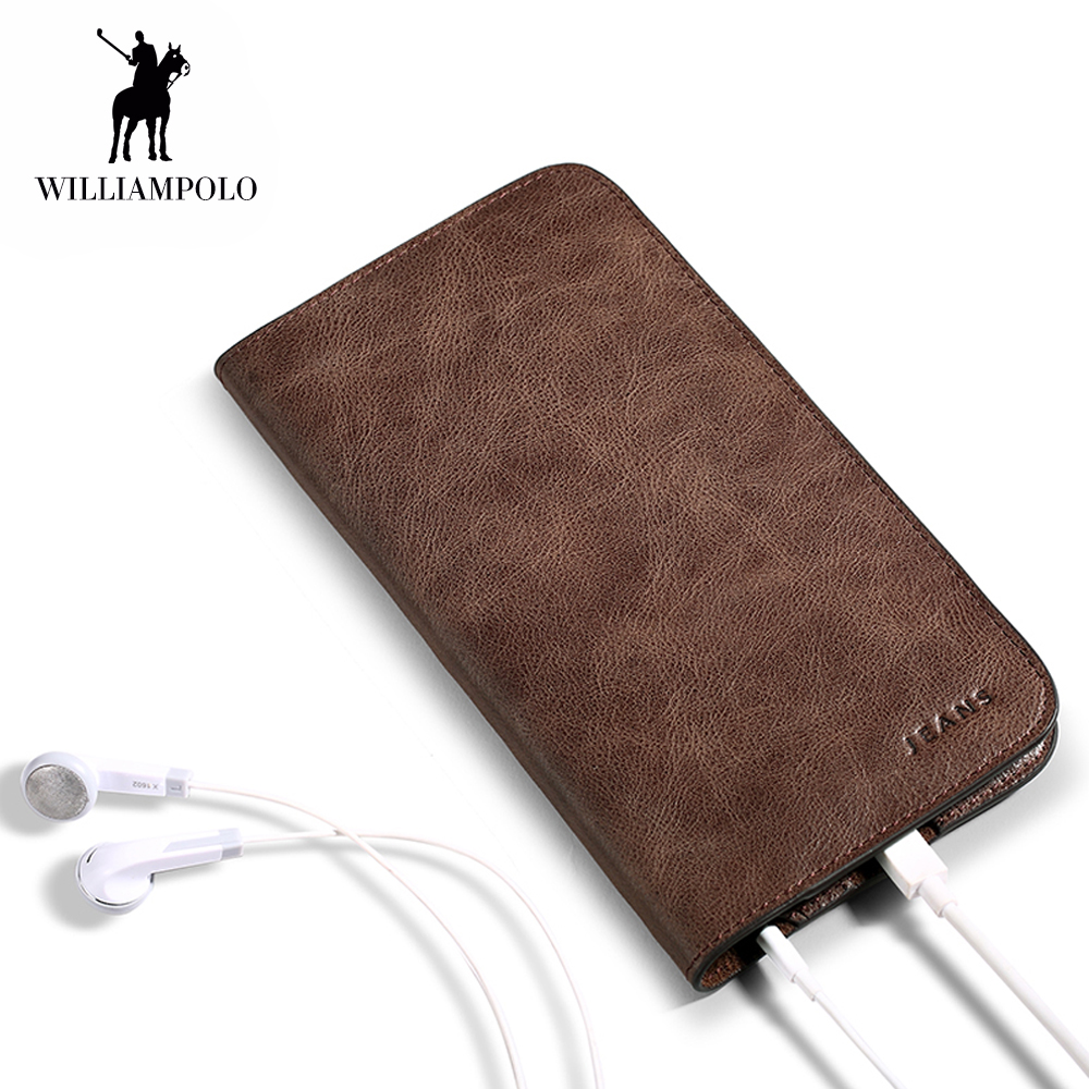 Wallet Men Genuine Leather Male Purse soft Leather clutch bag Pocket card and money clamp phone Purse Women Ultra Slim Wallet