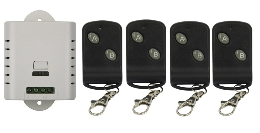 85 В 110 В 120 В 220 В 250 В 1ch Беспроводной Дистанционное управление переключатель передатчик с двумя кнопками приемник для Приспособления ворота ...