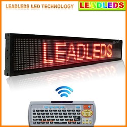 40x6.3 Led display indoor Programmable Scrolling Message led sign Board for Business and Store - Red Message