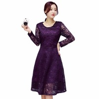 Tengo Fashion Brand Women Lace Dress Spring Sexy Crochet Dress Women Casual Beach Bottoming Dress Female