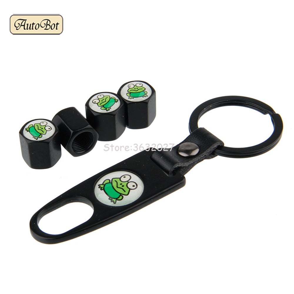 4pcs Car Wheel Tire Valve Stems Caps Cover With Keychain For Skoda Fabia Octavia A5 Mercedes Benz Mazda Nissan Juke Vw Jetta Mk6