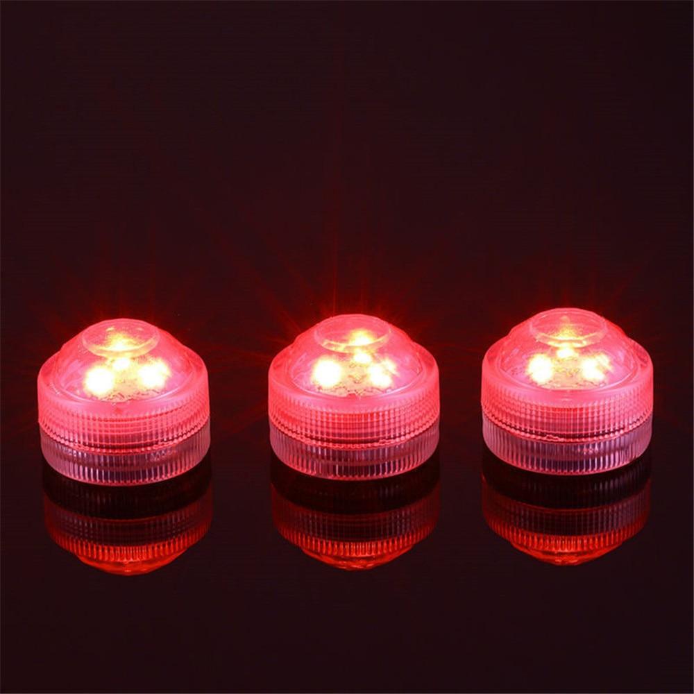 12 stykker / del fjernstyrte mini nedsenkbare LED-lamper med CR2032 - Ferie belysning - Bilde 2