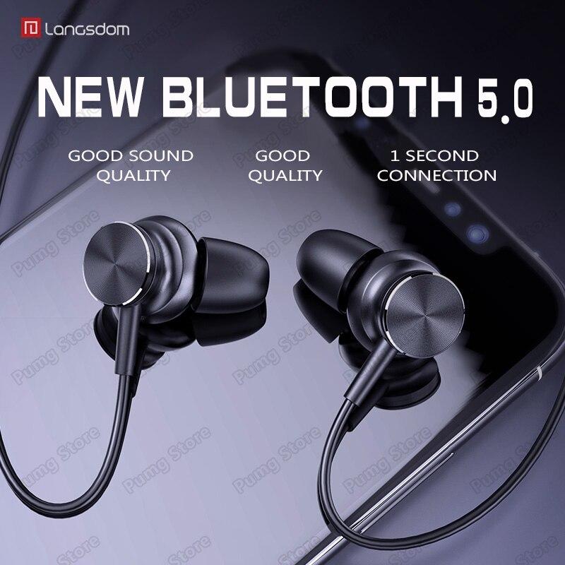 a6dedf0db4b Langsdom L33 auriculares Bluetooth estéreo HIFI auriculares inalámbricos  para juegos con interruptor magnético auriculares deportivos Bluetooth con  ...