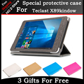 Ultra Slim 3-Folder Mangetic Closure Silk Flip Stand Leather Cover Case For Teclast X89 Kindow E-book Reader 7.5 inch Tablet