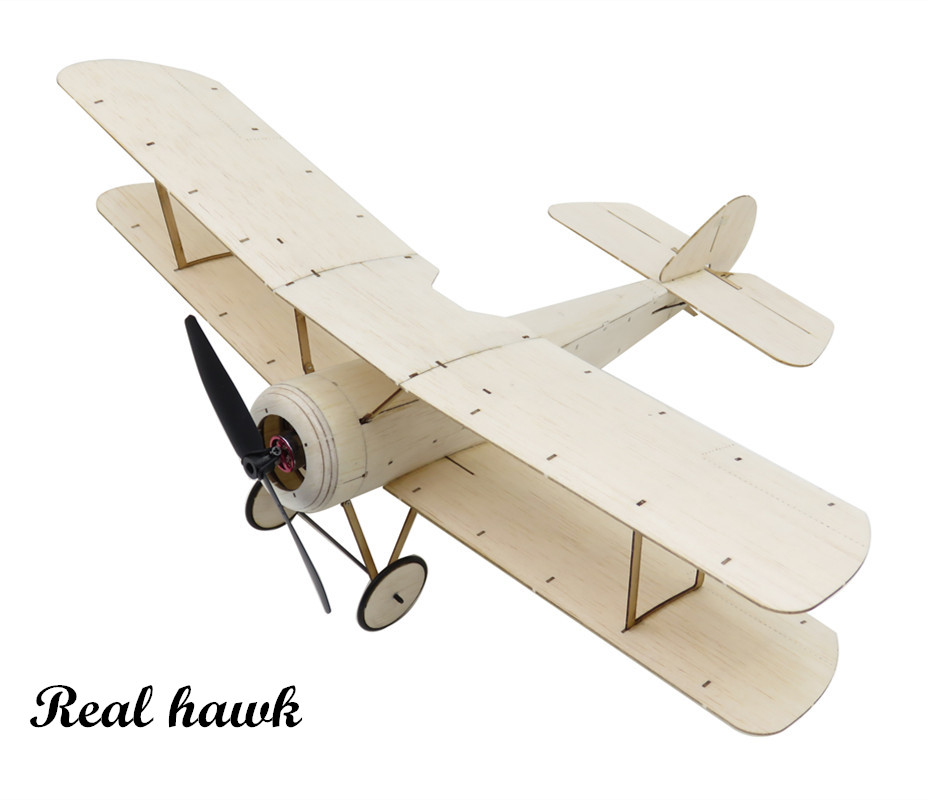 US $33 02 10% OFF RC Plane Laser Cut Balsa Wood Airplane biplane Sopwith  Pup Frame without Cover Wingspan 378mm Balsa Wood Model Building Kit-in RC