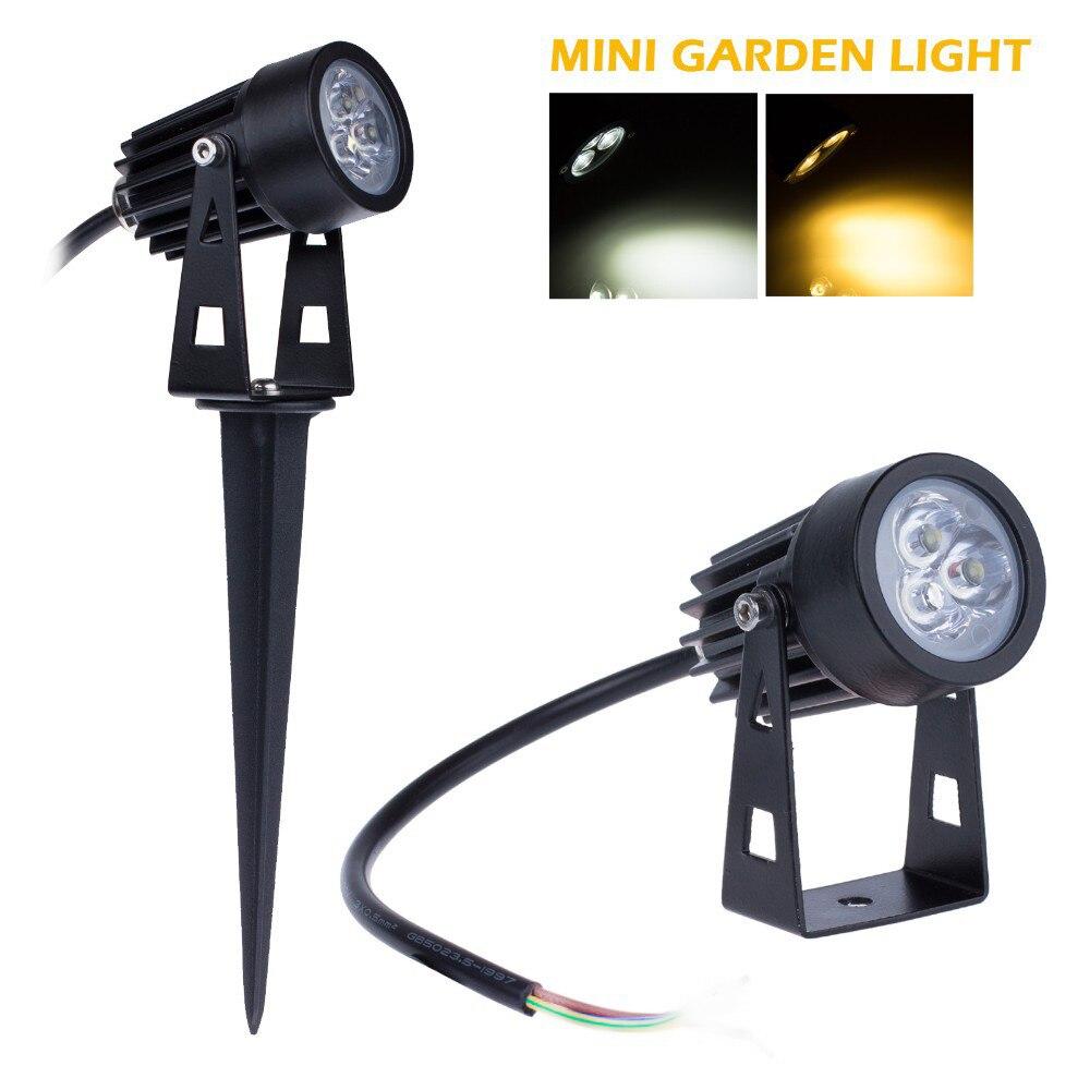 buy 20x mini outdoor lawn light 12v led garden lamp 3w ip65 waterproof spike. Black Bedroom Furniture Sets. Home Design Ideas