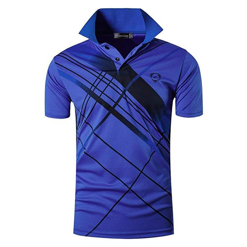 jeansian Men's Sport Tee   Polo   Shirts Poloshirts Casual Wear Golf Tennis Badminton Dry Fit Short Sleeve LSL226 Blue