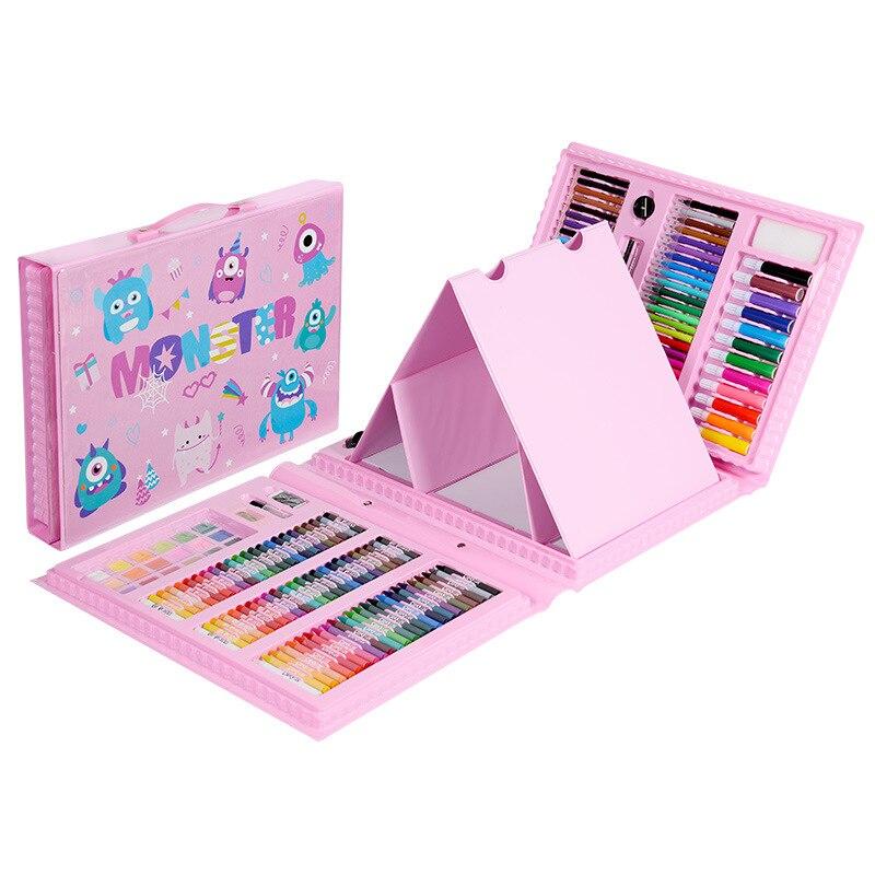 176 pièces peinture Art Set enfants marqueur stylo artiste Crayon dessin stylo pour enfants cadeau boîte Art fournitures
