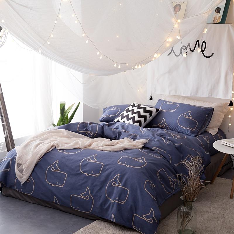 Leaves Print 100 Cotton 78 7 X90 5 Duvet Cover Flat Sheet Pillow