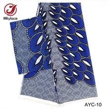 High quality african satin fabric digital printed wax pattern chiffon design 2 in 1 style 2 yards Chiffon+4 yards Satin AYC-10 sinful in satin