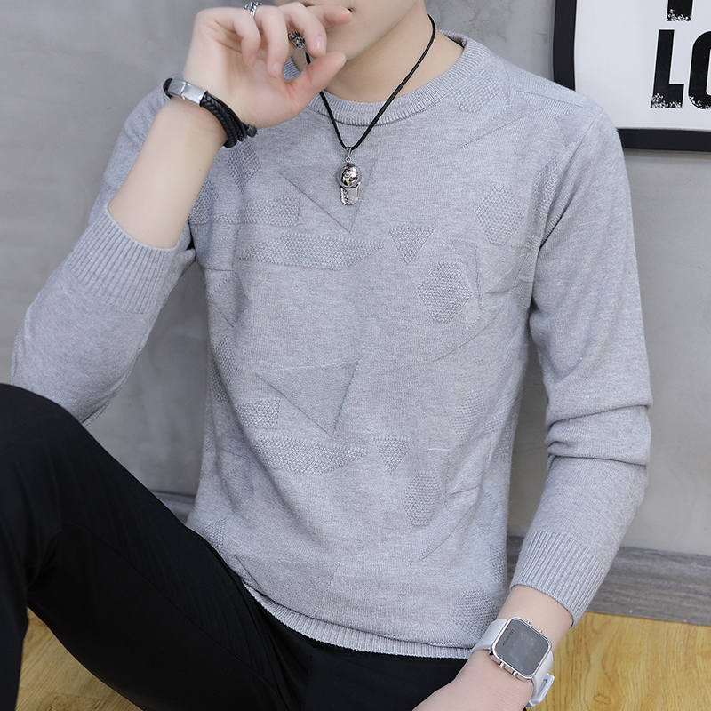 2019 Autumn winter new men sweater warm wool pullovers o-neck Korean fashion casual solid color homme outerwear plus size XXXL