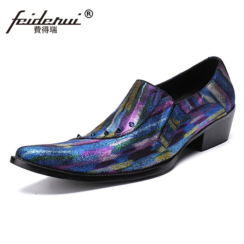 Plus Size 2018 Fashion Pointed Toe Man Formal Dress High Heel Loafers Cow Suede Leather Studded Mens Banquet Party Shoes SL309Plus Size 2018 Fashion Pointed Toe Man Formal Dress High Heel Loafers Cow Suede Leather Studded Mens Banquet Party Shoes SL309