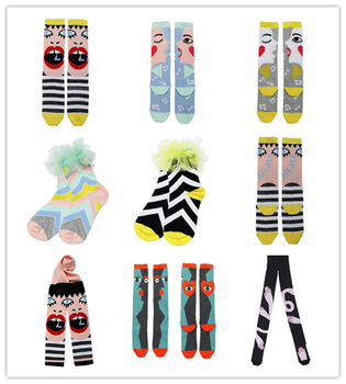 Girls Halloween Eye-Face Socks