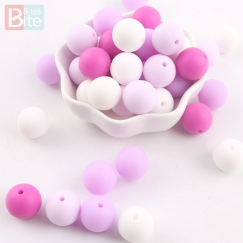 bite bites marble silicone teething beads bpa free silicone nursing necklace for mom necklace baby silicone teether baby teether Bite Bites 10pcs 15mm Silicone Beads Baby Teething Teether Mon Necklace Pacifier Clips Holder Accessories BPA Free Baby Teether