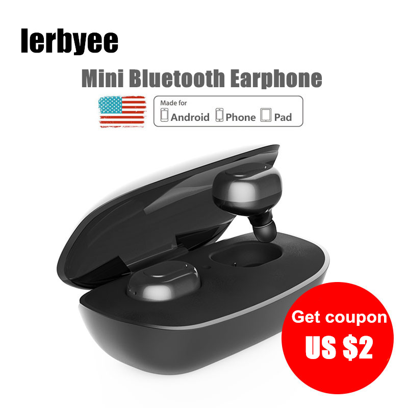 LONGET V4.1 Bluetooth Wireless Headset Mini Wireless Earphone Hands- Free Stereo earphones for Car Calling with Charging Box airersi k6 business bluetooth headset smart car call wireless earphone with microphone hands free and headphones storage box