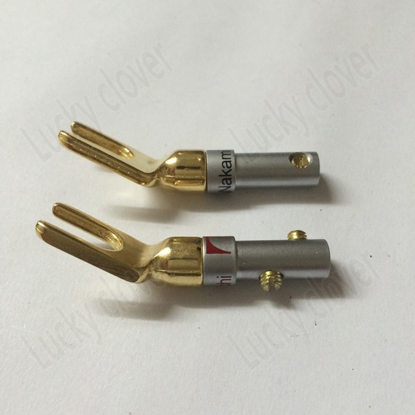 Japan Nakamichi gold plated copper grade interpolation Y Y U type Screw Spade Banana Plug speaker