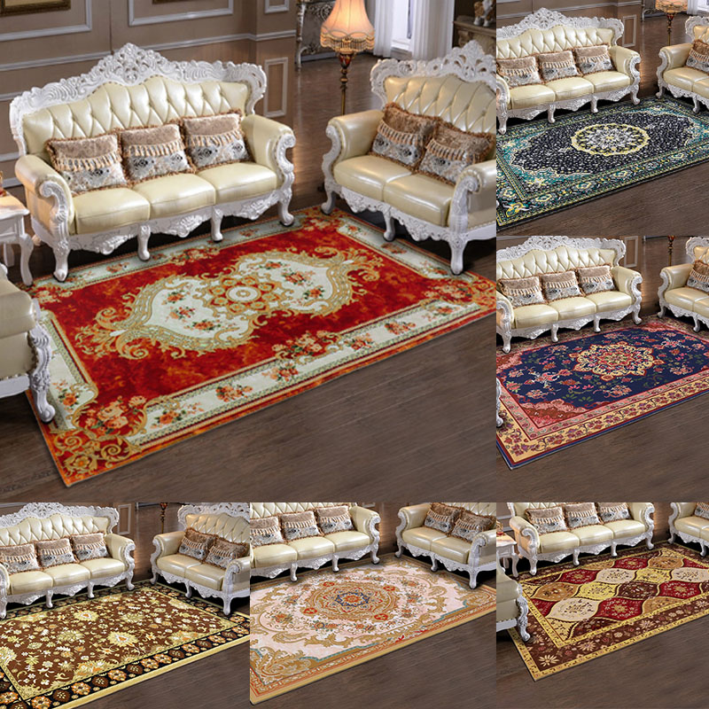 Classic European Style Floral Flower Floor Bathroom Mat Hallway Living Room Bedroom Carpet Area Rug Home