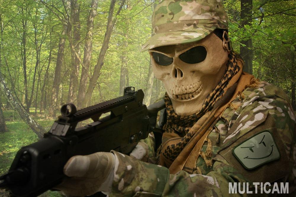 Party Costume Military Army BDU Uniform 4pcs Set (Camo Marpat Woodland ACU Woodland camo)