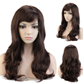 "Cosplay Wig 19"" Curly Mix Brown Auburn Women Lady Girls Fancy Halloween Anime Costume Party Dress Full Head Wigs Synthetic TW051"
