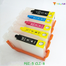 PGI-5 CLI-8 PGI5 Refillable Ink Cartridge For Canon PGI 5 CLI 8 PIXMA iP4200 iP4300 iP4500 iP5200 MP500 MP530 MP600 MP610