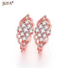 23978522bd62 2018 nuevo lujo gran flor de cristal CZ Rhinestone 4 colores DIY que hace  componentes pendientes