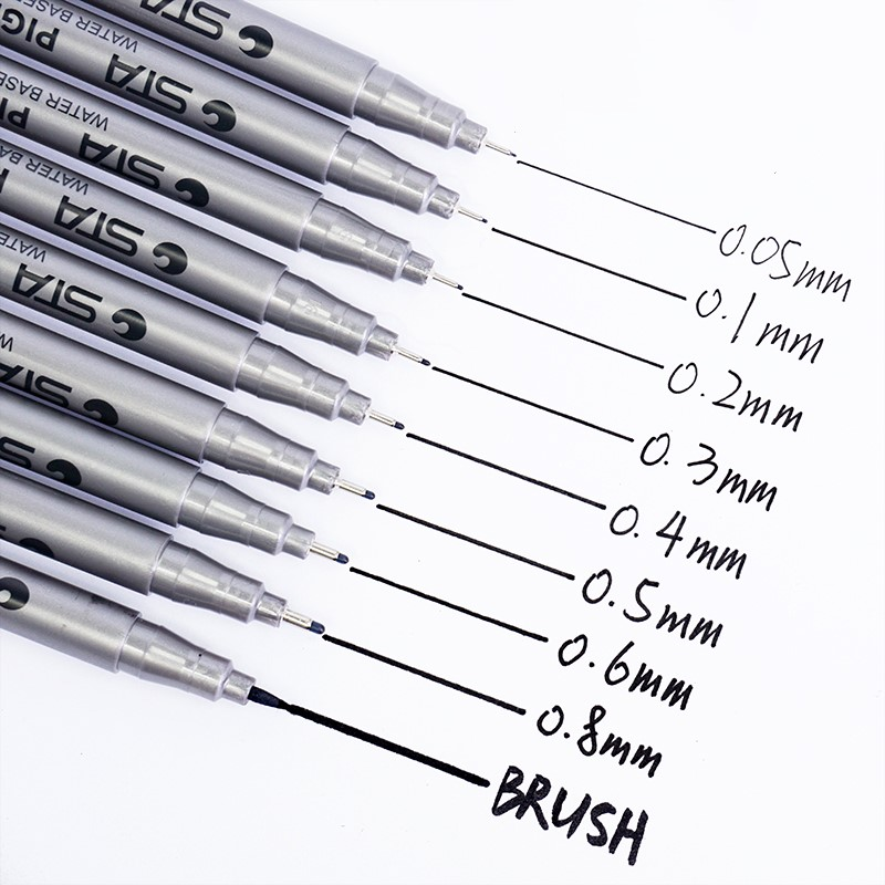 Black Fine Tip Inking Pens For Drawing Archival Ink Pen Fineliner Sketching Pens for Drafting Manga Pens Writing