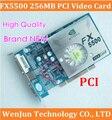 100% Brand  NEW nVIDIA GeForce FX5500 PCI 256MB 128bit  DDR VGA/DVI Video Card with CD driver