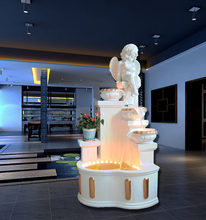 Fountain waterscape angels fall to the ground water Humidifier rockery Feng shui wheel furnishing articles