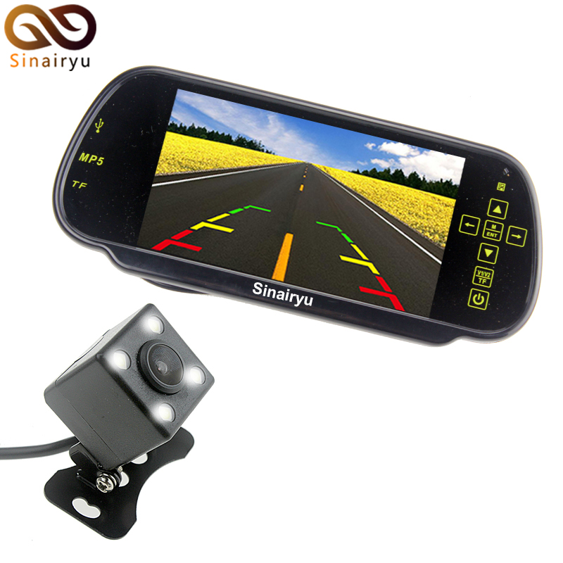 7 Inch Car Video Parking Monitors.7 MP5 Auto Rear View Mirror Monitor Support SD/USB FM Radio With Reverse CCD Camera carpc monitor auto computer monitors 7inch led touch screen monitor with vga and 2av av2 reverse camera for car pc