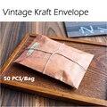 50 Pçs/saco 16x11 cm Velho Estilo Do Vintage Kraft Envelope Kraft Embalagem Para O Cartão Do Convite Do Cartão Postal Retro Pequeno Presente carta