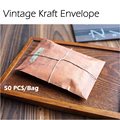 50 Unids/bolsa 16x11 cm Estilo Antiguo de La Vendimia Kraft Sobre de Kraft de Embalaje Para Tarjeta de Invitación Postal Retro Pequeño Regalo carta