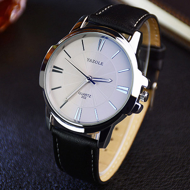 2016 YAZOLE Quartz-watch  Men Watch Top  Luxury brand Male WristWatch leather Business Quartz watch relogio feminino Male Clock