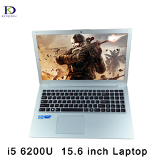 15.6 «ультратонкий ноутбук Core i5 6200U Ultrabook компьютер с подсветкой клавиатуры Двойная видеокарта веб-камера Bluetooth HDMI Тип-c