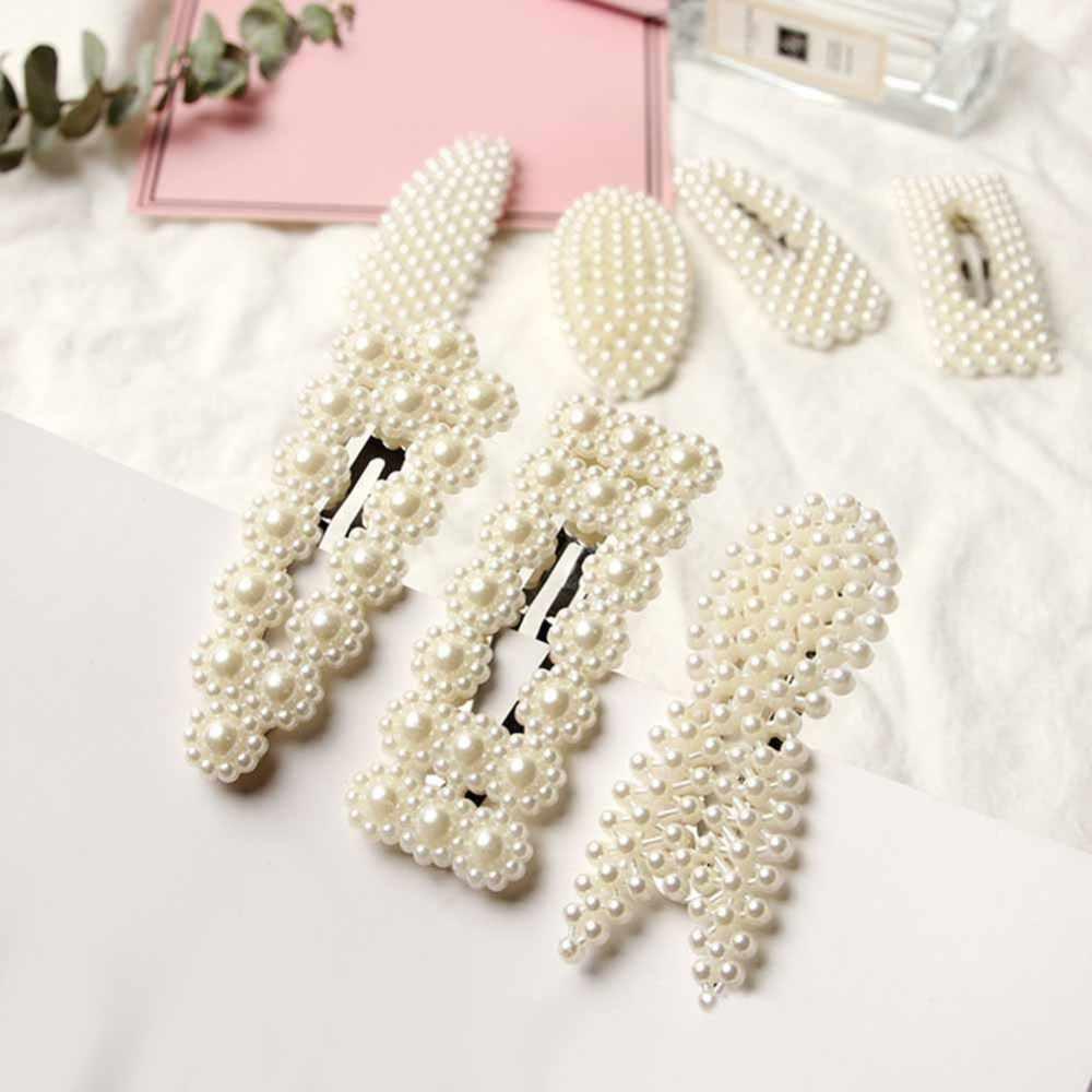 女性野生の髪クリップ模造真珠クリップヘアクリップボビーピン女性ヘアピンウェディングブライダル