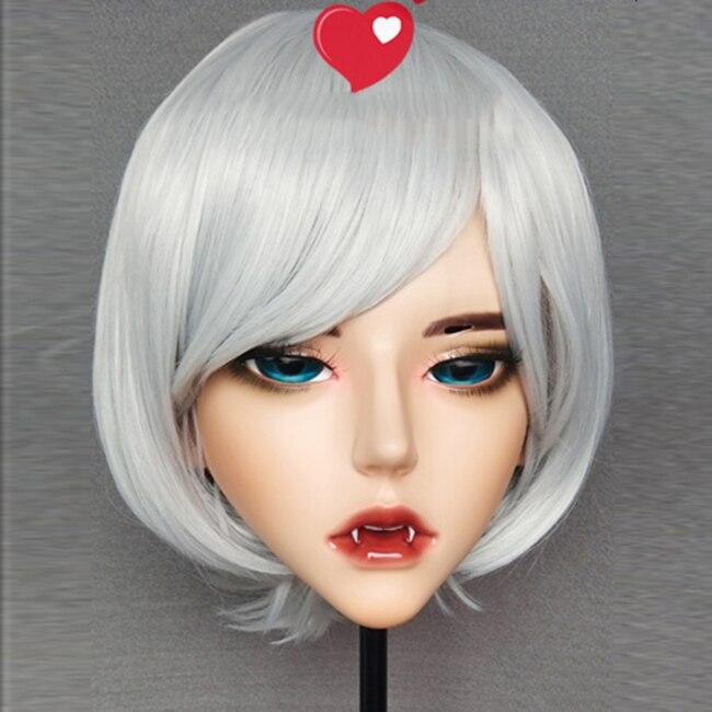 demon-2 Boys Costume Accessories resin Half Head Kigurumi Bjd Mask Cosplay Japanese Anime Role Demon Mask Crossdress Doll Mask Costumes & Accessories