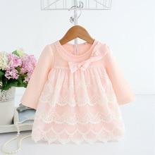 Wiosna jesień bawełniane perły ubrania dla dzieci nowonarodzone dziewczyny sukienka dla niemowląt odzież dla niemowląt dziewczynek sukienka vestido infantil 2 kolor