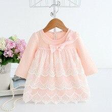 spring autumn cotton pearls Kids clothes newborn Girls infant dress baby clothing baby girls dress vestido infantil 2 color